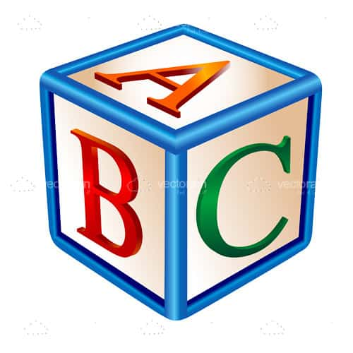 ABC Alphabet Cube - Vectorjunky - Free Vectors, Icons, Logos and More