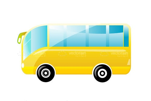 Abstract Yellow Bus