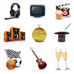 Leisure and Entertainment Icon Set