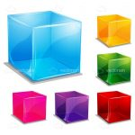 Colorful Transparent Cubes