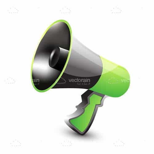 Megaphone in Green and Grey