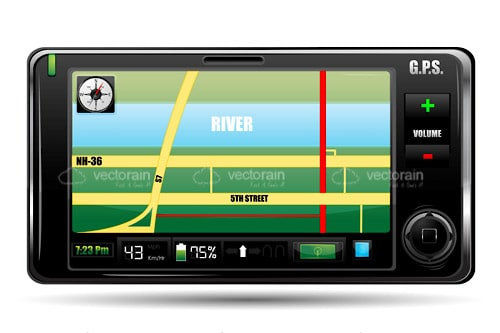 GPS Device with Map on Screen