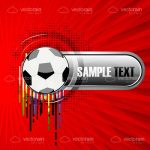 Abstract Football Logo with Sample Text
