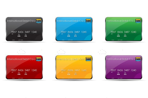 Colourful International Credit Card Icon Pack