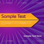 Contrasting Colors Background with Arrow and Sample Text