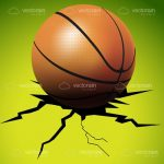 Basketball Breaking the Floor