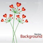 Abstract Floral Hearts Background with Sample Text