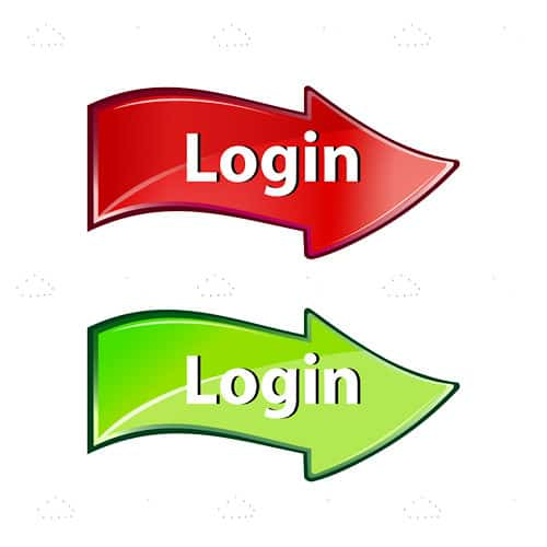Red and Green Login Arrow Pack