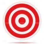 Target Board Icon in Red and White