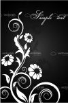 Black and White Floral Background with Sample Text