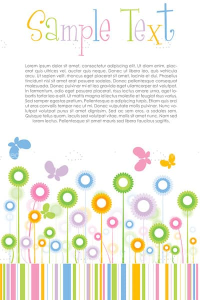 Abstract Floral Background in Pastel Colors with Sample Text