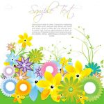 Floral Background with Cheerful Pastel Colors and Sample Text