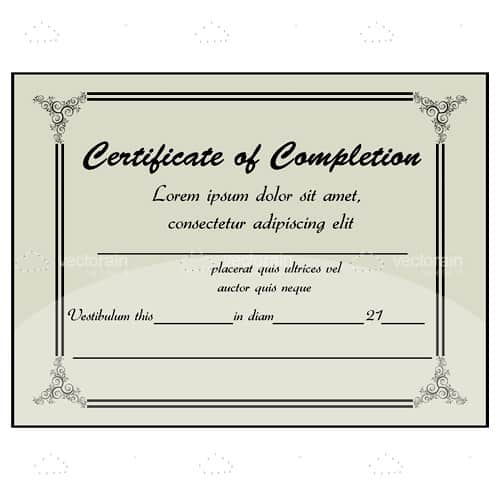 Certificate of Completion Background