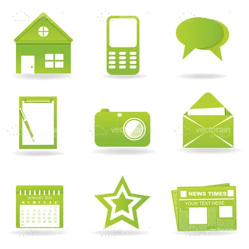Abstract Green Icons