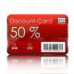 Red Discount Card with Bar Code