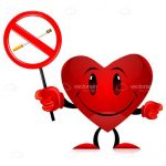 Cartoon Heart with No Smoking Sign