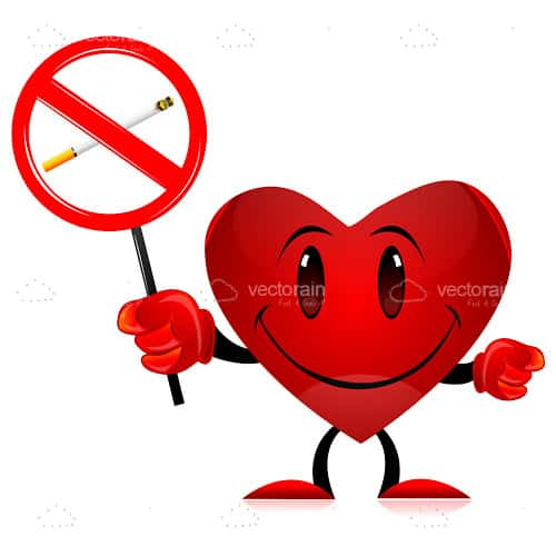 Cartoon Heart With No Smoking Sign Vectorjunky Free Vectors Icons Logos And More