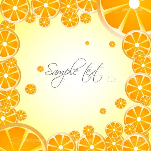 Fresh Background with Orange Slices and Sample Text