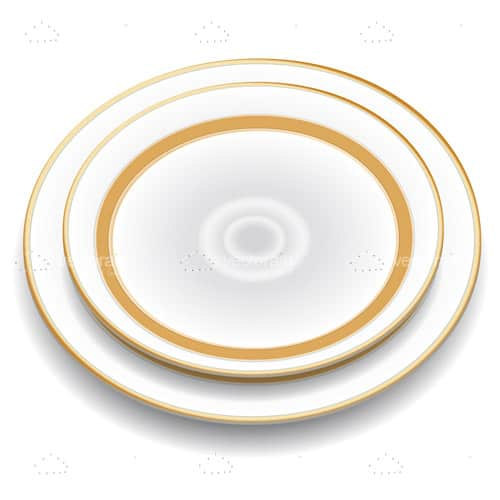 Elegant Plate with Golden Borders
