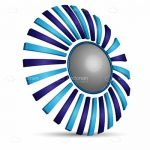 Abstract Blue Circular Design