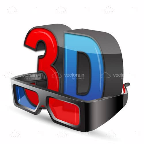 3D Glasses and Logo