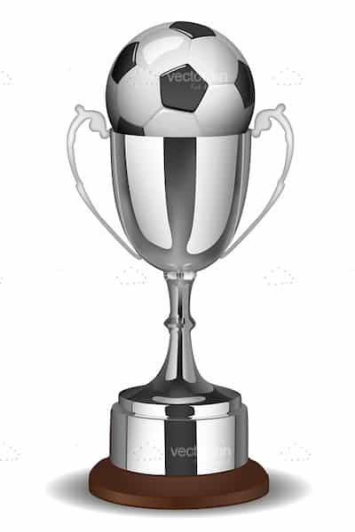 Silver Trophy with Football inside!