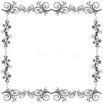 Simple and Elegant Floral Frame in Black and White