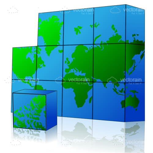3D Cubed World Map