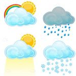 Illustrated Cartoon Weather Icon Pack