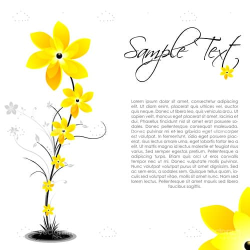 Flowers Background with Sample Text