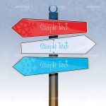 Colourful Directional Boards with Sample Text