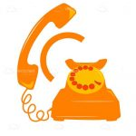 Orange Retro Telephone