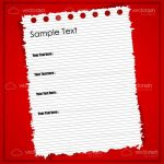 Sheet of Torn Note Paper with Sample Text