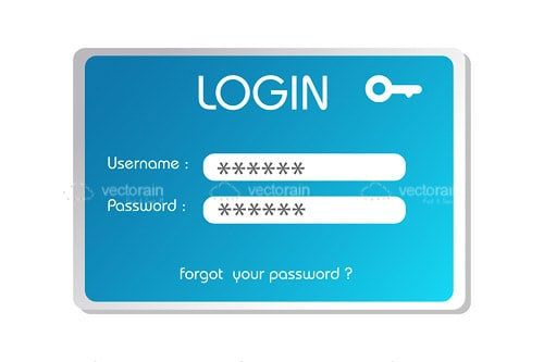 Typical Login Box in Blue