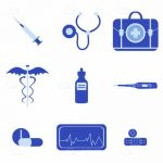 Blue Medical Icon Set