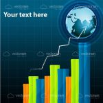 Colourful Growth Chart with Futuristic Background and Sample Text