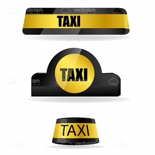 Realistic Taxi Tags