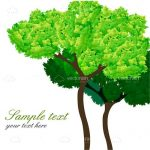 Illustrated Green Tree with Sample Text