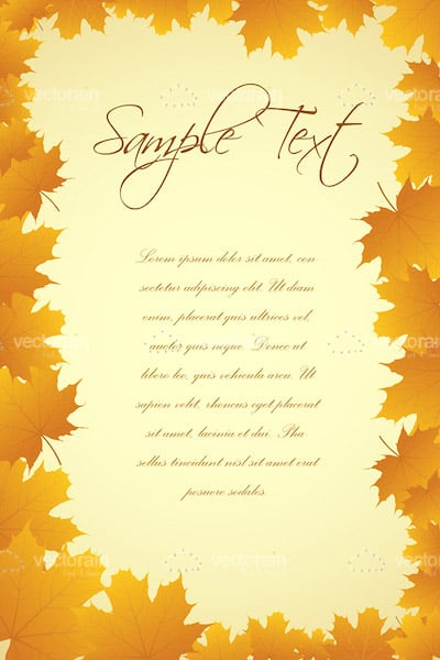 Autumn Leaves Card with Sample Text