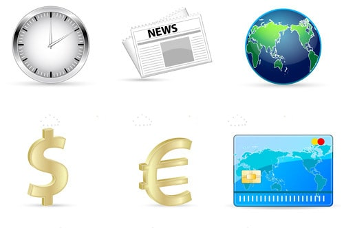 Global Finance Icon 6 Pack