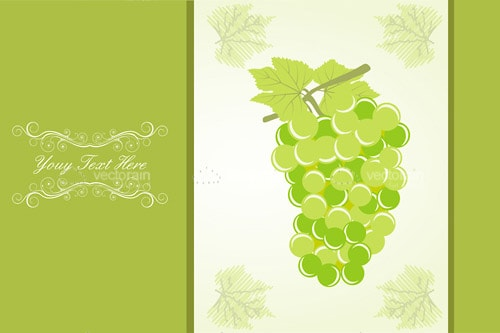 Abstract Grapes Background with Sample Text
