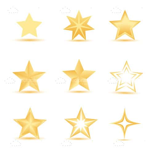 Golden Stars Icon Set