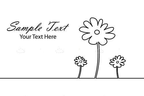 Illustrated Flower Card Design with Sample Text