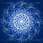 Abstract Blue and White Floral Background