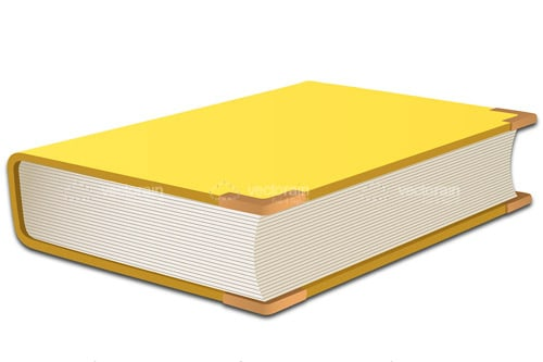 Hardcover Book with Yellow Covers and Golden Tips