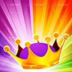 Abstract Crown with Colorful Background