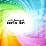 Spiralling Colours Vector Background with Sample Text