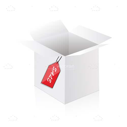 Box with Sale Tag