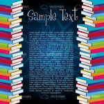 Colourful Books Background with Sample Text