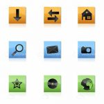 Set of Various Icons for Buttons